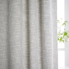 Lined Cotton Curtains Cotton Textured Weave Curtain Blackout Lining Ivory West Elm