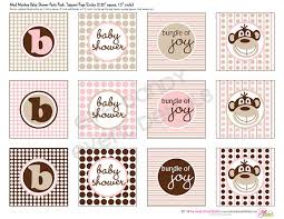 mod baby shower girl baby shower mod monkey baby girl baby shower diy