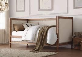 charlton 39175 daybed in oak u0026 cream linen by acme