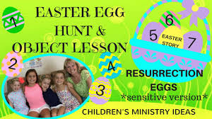 easter resurrection eggs easter egg hunt object lesson sensitive version resurrection
