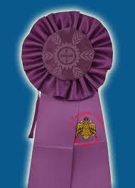 purple ribbons ecclesiastical purple ribbon badge for church decoration 75x18cm