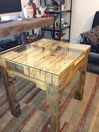 how to make a glass table furniture pallet how to make a end table and furniture awesome
