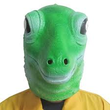 lizard carbide latex animal mask halloween party costume