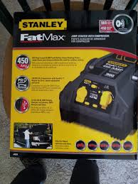 stanley fat max rechargeable jumper compressor find