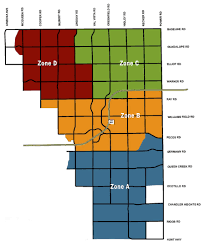 Zip Code Map Mesa Az by Pickup Schedules Town Of Gilbert Arizona