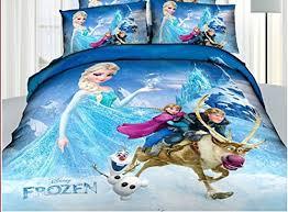 Frozen Comforter Full Princess Elsa Anna Frozen Cartoon Bedding Set Flat Sheet Queen