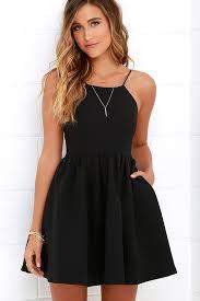black skater dress chic freely black backless skater dress bodice neckline and