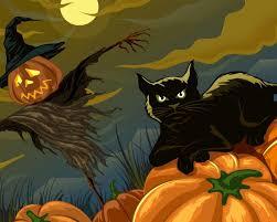 simplywallpapers com halloween animals artwork cats digital art