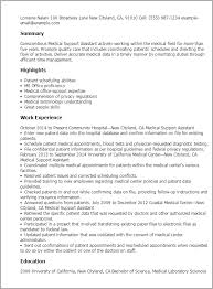 Resume Sample For Doctors by Professional Medical Support Assistant Templates To Showcase Your