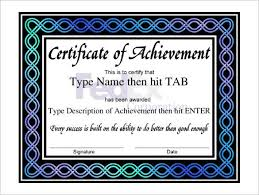 free certificate of achievement free customizable certificate of