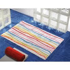district17 klee rainbow stripe bath rug bath mats