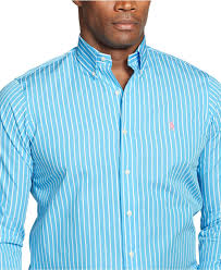 light blue striped polo dress lyst polo ralph lauren big and tall poplin striped long sleeve