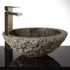 interior bathroom vessel sinks with good oval chiseled marble