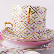 roses tea set tea set for 2 persons sevres roses herend experts