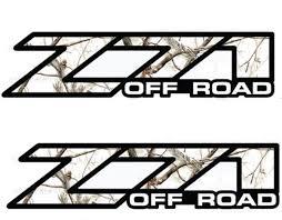 product 2 chevy silverado z71 off road decals realtree aps snow
