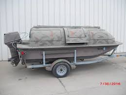 Boat Duck Blinds For Sale Outlaw 14 U0027 Duck Blind Boat Aluminum Boats Used In Rock Island Il