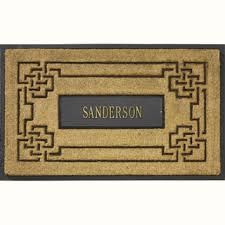 Coir And Rubber Doormat Coir Rubber Doormats From The Personalized Doormats Company