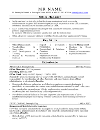 office manager resume business manager resume exle exles of resumes
