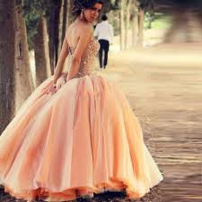 charming peach color cheap quinceanera dresses ball gown luxury
