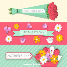 flowers for mothers day lovely banners with bouquet and flowers for mother u0027s day vector