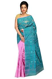 dhakai jamdani a r shop handloom dhakai jamdani cotton silk tant saree green