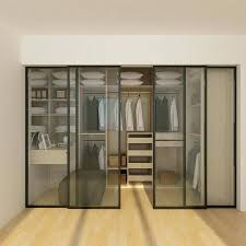 wardrobe excellent everything around the bed is done in a modern