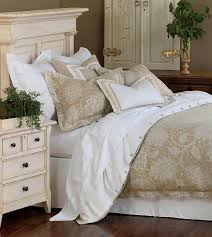 Luxury White Bed Linen - luxury bedding by eastern accents aileen collection