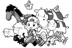 harvest moon colouring sheets