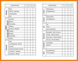 10 report card template free park attendant