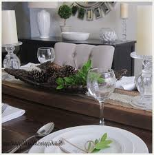 table runner dining room tropical with table setting traditional