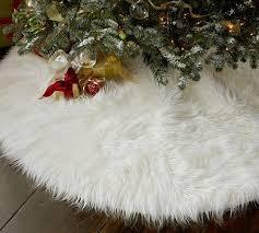 fur tree skirts happy holidays