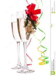 champagne glasses clipart champagne glasses decorated with christmas bells stock image