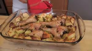 Broil Chicken Legs by Roasted Chicken And Potato Bake Recipe By Laura Vitale Laura