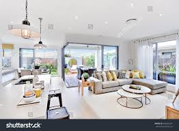 The Living Room by Modern Kitchen Area Attached Living Room Stock Photo 463662341