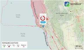Chico State Map Weekend Earthquakes Along The San Andreas Fault Mark Tips Of Great