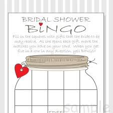 bridal shower gift bingo bridal shower bingo printable cards gift bingo rustic
