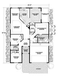 small santa fe style house plans santa fe spanish ranch home