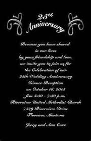 silver anniversary invitation wording 28 images silver