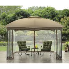 Covered Gazebos For Patios Better Homes And Gardens Bird Hollow Cabin Style Gazebo 10 U0027 X 12