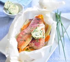 cuisiner rouget papillote de rouget et légumes au beurre d herbes envie de bien