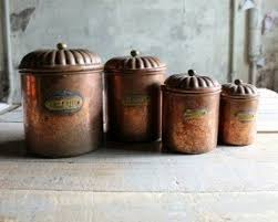 antique kitchen canister sets copper canister sets foter