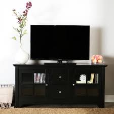 walker edison furniture company becket matte black entertainment