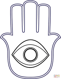 khamsa coloring page free printable coloring pages