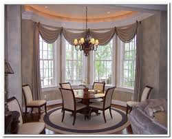 dining room bay window curtain ideas dining room decor ideas and