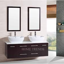 Espresso Double Vanity Inch Wall Mounted Double Espresso Wood Bathroom Vanity Include