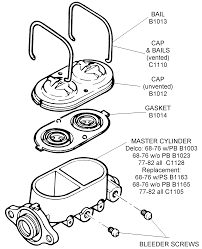 corvette supply master cylinder assembly diagram view chicago corvette supply