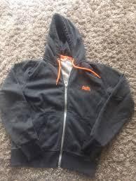 superdry hoodie grey hoodie jumper m l mens grey superdry for sale