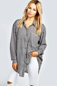 oversized blouse kalie gingham oversized shirt boohoo