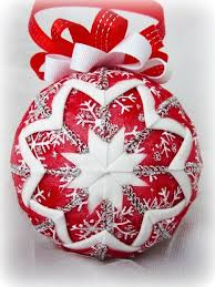 free folded ornament pattern quilted
