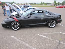 1995 Mustang Black Isanti Weekly Car Show 8 15 2012 Themusclecarguy Net